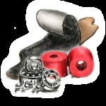Шайбы (caps/washers) для лонгборд подвески